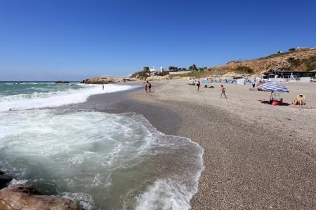 'costa del sol': Punta Chullera beach at the Costa del Sol, Andalusia, Spain Editorial