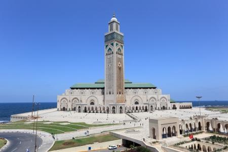 카사 블랑카, 모로코에있는 그레이트 모스크 하산 II