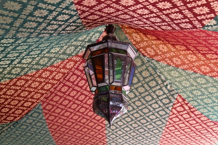 artisanry: Traditional lamp in Meknes, Morocco, North Africa