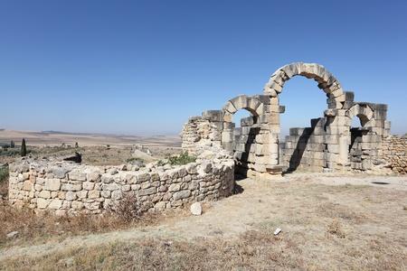 Les ruines romaines de Volubilis, Maroc, Afrique du Nord Banque d'images - 21459997