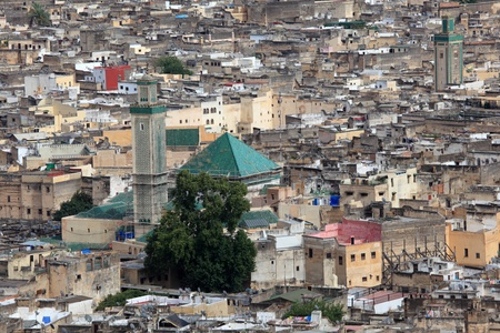 fez: Mosque in the medina of Fes, Morocco, North Africa Stock Photo