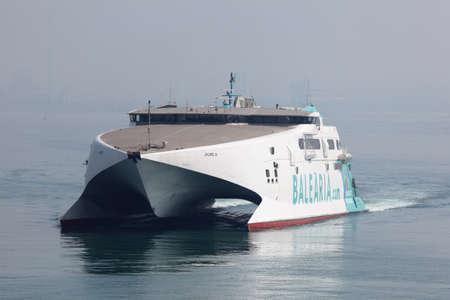 seabus: Modern high speed ferry boat in Algeciras, Spain Editorial