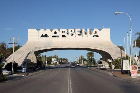 sol: Arch in Marbella, Costa del Sol, Spain Editorial