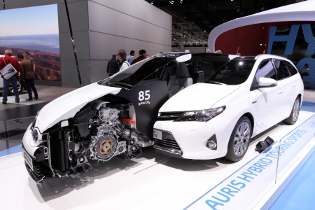 International Motor Show in Frankfurt, Germany. Toyota Auris Hybrid Touring Sports at the 65th IAA in Frankfurt, Germany on September 17, 2013 Stock Photo - 22265307