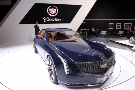 iaa: International Motor Show in Frankfurt, Germany. Cadillac Elmiraj at the 65th IAA in Frankfurt, Germany on September 17, 2013