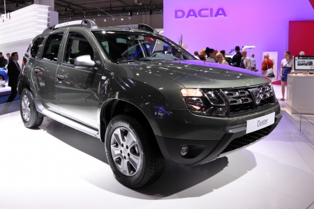 iaa: International Motor Show in Frankfurt, Germany. Dacia Duster at the 65th IAA in Frankfurt, Germany on September 17, 2013