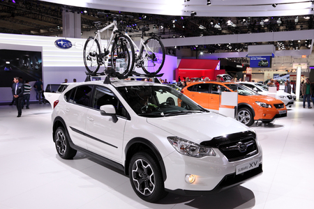 iaa: International Motor Show in Frankfurt, Germany. Subaru XV SUV at the 65th IAA in Frankfurt, Germany on September 17, 2013 Editorial