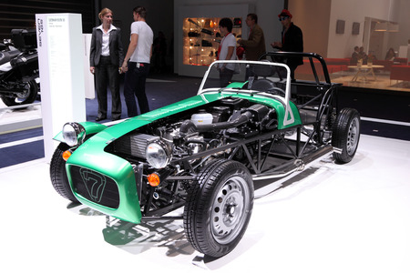 iaa: International Motor Show in Frankfurt, Germany. Caterham Seven 165 at the 65th IAA in Frankfurt, Germany on September 17, 2013 Editorial
