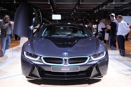 International Motor Show In Frankfurt Germany New Bmw I8 Electric