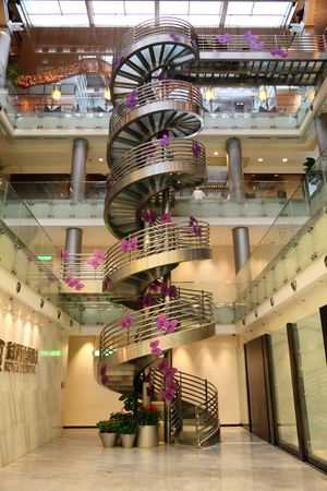 Spiral staircase in Shanghai, China