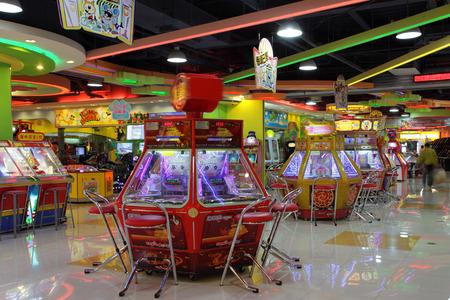 parlour games: Gambling machines in Shanghai, China