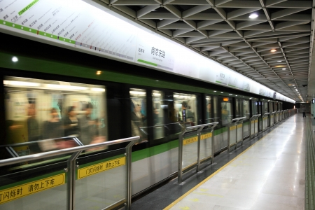 Metro station in Shanghai, China