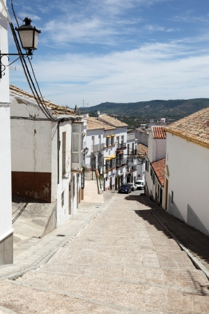 Street in the old town Olvera, Andalusia, Spain photo