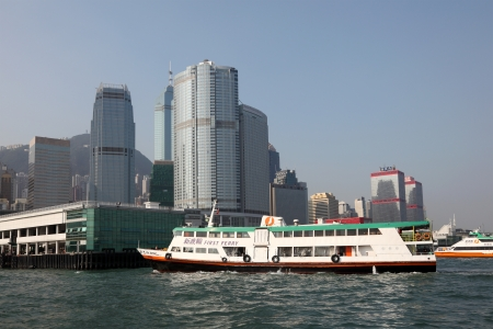 Ferry ship in the harbour of Hong Kong