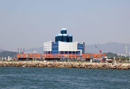 港から西九龍文化地区の眺め。香港、中国
