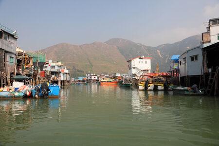 lantau: Tai O fishing village on Lantau Island, Hong Kong, China