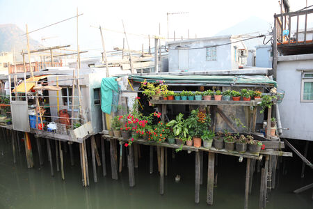lantau: Stilt houses in chinese fishing village Tai O, Hong Kong