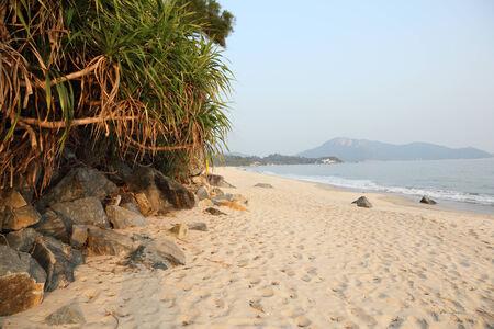 lantau: Bella spiaggia sull'isola di Lantau, Hong Kong, Cina