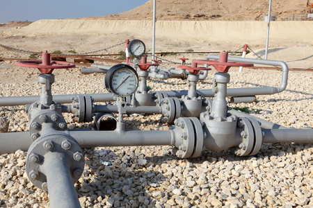 middle east: Oil pipeline in Bahrain. Middle East