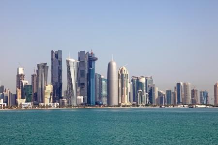 카타르 도하의 스카이 라인