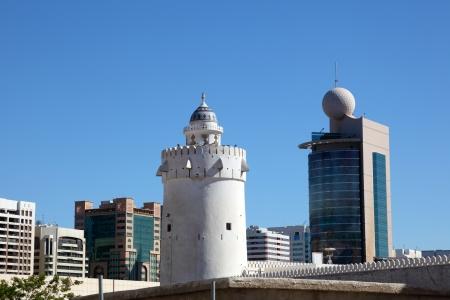 Qasr al-Hosn tower - the oldest stone building in Abu Dhabi, United Arab Emirates