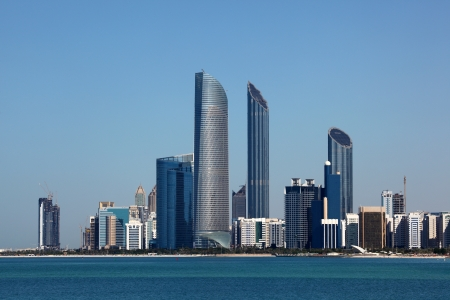 Abu Dhabi Skyline view from the Marina Mall. United Arab Emirates photo