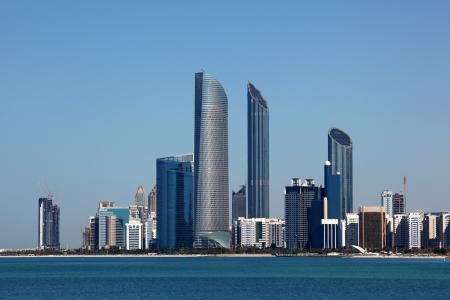 Abu Dhabi Skyline view from the Marina Mall. United Arab Emirates