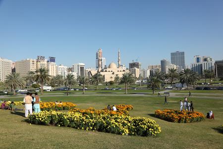 sharjah: Main square in Sharjah city. United Arab Emirates