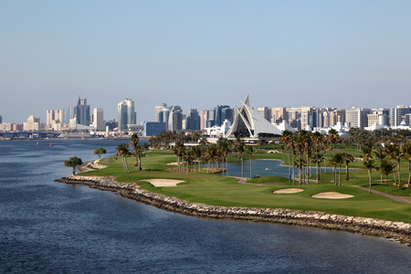 yacht club: Dubai Creek Golf Course and Yacht Club. United Arab Emirates
