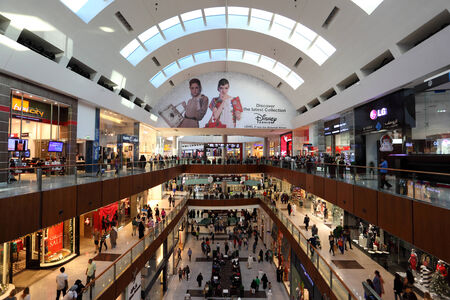 mall of the emirates: Interior of the Dubai Mall, United Arab Emirates Editorial
