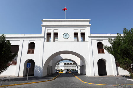 muddle: Bab El-Bahrain Souk Gate in Manama, Bahrain, Muddle East