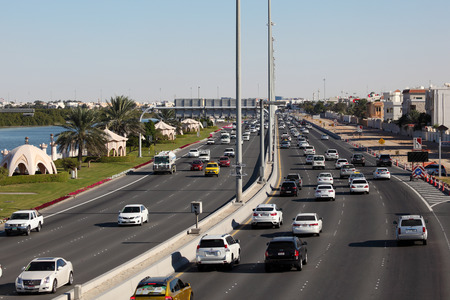 abudhabi: City highway in Abu Dhabi, United Arab Emirates