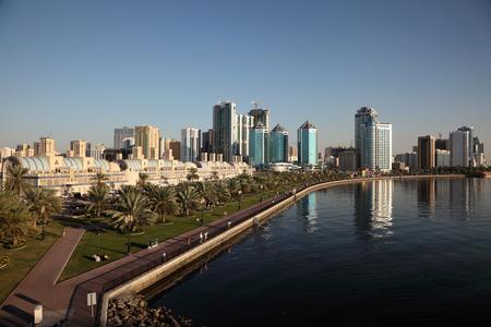 sharjah: Skyline of Sharjah City, United Arab Emirates Editorial