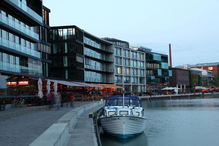 munster: Kreativkai - the Inner harbor in Munster, North Rhine-Westphalia, Germany