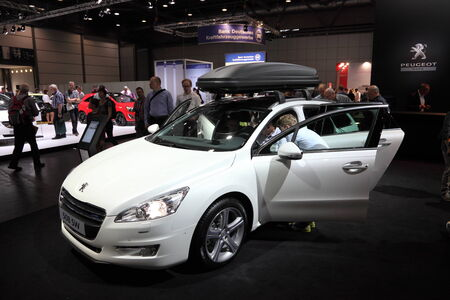 psa: Peugeot 508 SW space wagon at the AMI - Auto Mobile International Trade Fair on June 1st, 2014 in Leipzig, Saxony, Germany Editorial