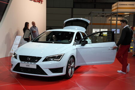 New Seat Leon at the AMI - Auto Mobile International Trade Fair on June 1st, 2014 in Leipzig, Saxony, Germany