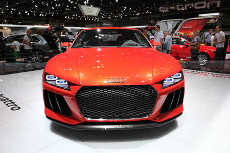 Audi Quattro Concept at the AMI - Auto Mobile International Trade Fair on June 1st, 2014 in Leipzig, Saxony, Germany