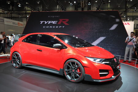 typer: Honda Civic TypeR concept car at the AMI - Auto Mobile International Trade Fair on June 1st, 2014 in Leipzig, Saxony, Germany Editorial
