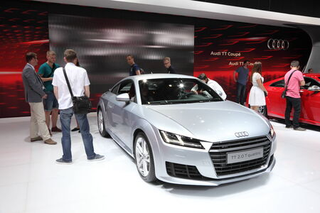 Audi TT Coupe at the AMI - Auto Mobile International Trade Fair on June 1st, 2014 in Leipzig, Saxony, Germany