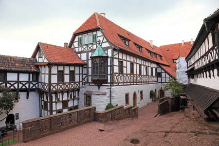 half timbered house: Half timbered house at the Wartburg Castle in Thuringia, Germany Editorial