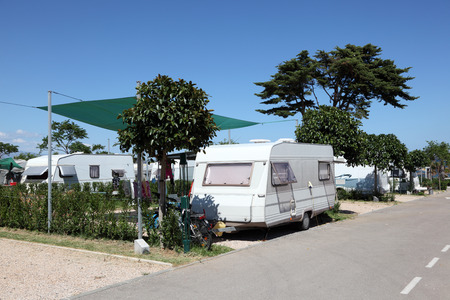 Caravan on a camping site in southern Spain photo