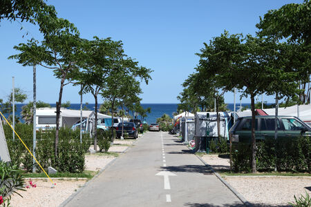 Camping site at the mediterranean coast in southern Spain photo