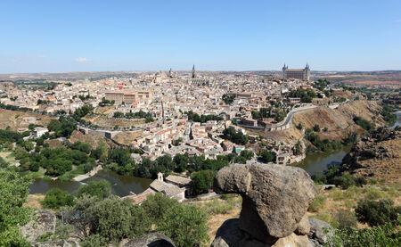 toledo town: View over the old town of Toledo, Castilla-La Mancha, Spain
