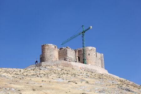 restauration: Ancient castle in Consuegra, Castilla-La Mancha, Spain
