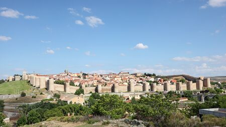 View of the medieval spanish town Avila, Castile and Leon, Spain photo