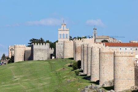 Medieval city walls of Avila, Castilla y Leon, Spain photo