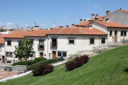 avila: Residential buildings in Avila, Castilla y Leon, Spain