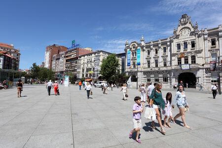 santander: People on the Promenade in Santander, Cantabria, Spain Editorial