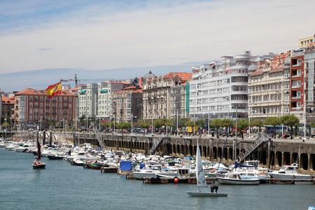 santander: Marina in the city of Santander, Cantabria, Spain Editorial