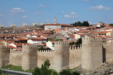 Medieval city walls of Avila, Castilla y Leon, Spain photo